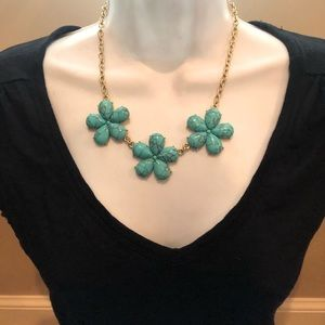 The limited Turquoise flower necklace